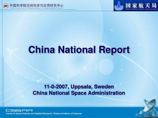 China National Report