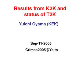 Results from K2K and  status of T2K