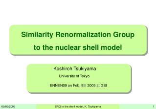 Similarity Renormalization Group  to the nuclear shell model