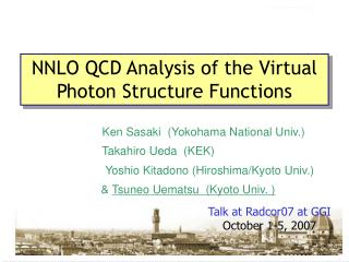 NNLO QCD Analysis of the Virtual Photon Structure Functions