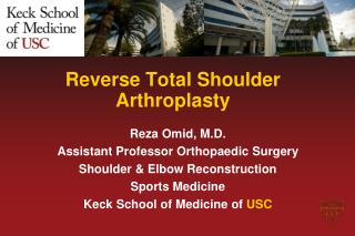 Reverse Total Shoulder Arthroplasty