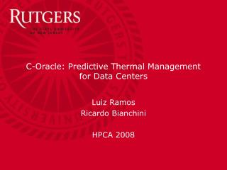 C-Oracle: Predictive Thermal Management for Data Centers