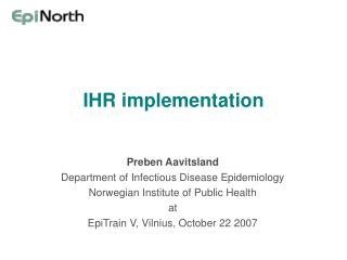 IHR implementation