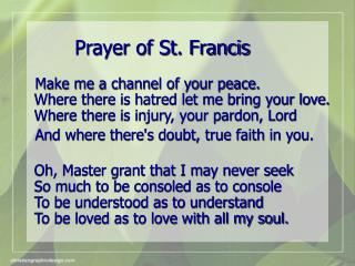 Prayer of St. Francis