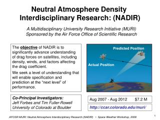 Neutral Atmosphere Density  Interdisciplinary Research: (NADIR)
