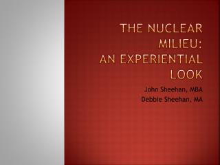 The Nuclear Milieu:   An Experiential Look