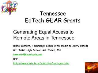 Tennessee EdTech GEAR Grants