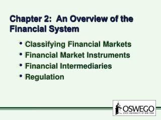 Chapter 2:  An Overview of the Financial System