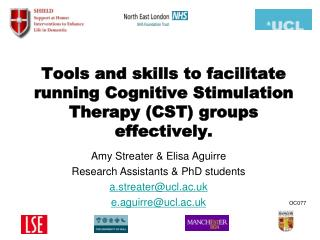 Tools and skills to facilitate running Cognitive Stimulation Therapy (CST) groups effectively.