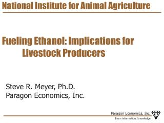 National Institute for Animal Agriculture