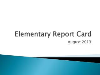 Elementary Report Card