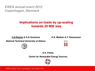 Implications on loads by up-scaling  towards 20 MW size
