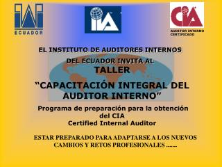 AUDITOR INTERNO CERTIFICADO