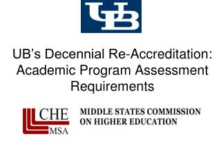 UB's Decennial Re-Accreditation: Academic Program  Assessment Requirements