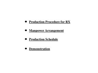 Production Procedure for RX