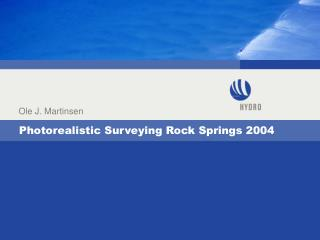 Photorealistic Surveying Rock Springs 2004