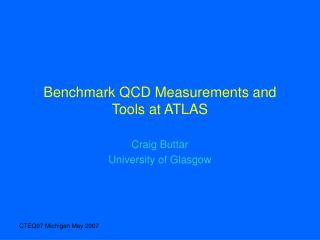 Benchmark QCD Measurements and Tools at ATLAS