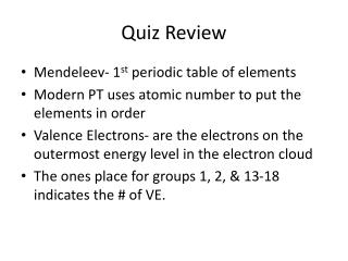 Quiz Review