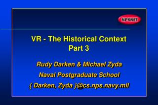 VR - The Historical Context Part 3