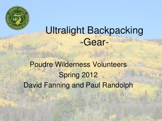 Ultralight Backpacking -Gear-