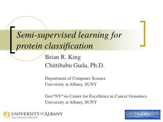 Semi-supervised learning for protein classification