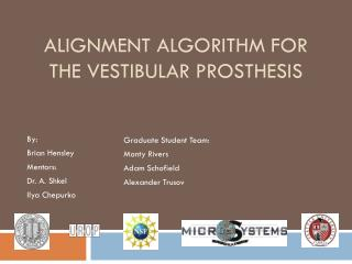 Alignment Algorithm for the Vestibular Prosthesis