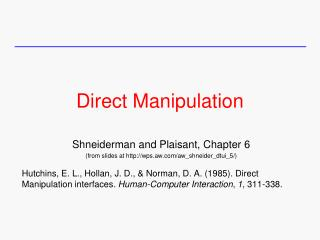 Direct Manipulation