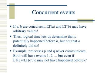Concurrent events