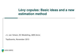 Lévy copulas: Basic ideas and a new estimation method