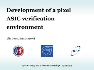 Development of a pixel ASIC verification  environment