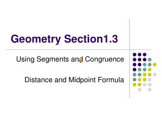 Geometry Section1.3