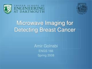 Microwave Imaging for Detecting Breast Cancer