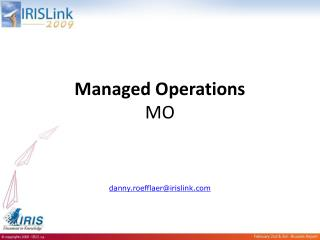 Managed Operations MO