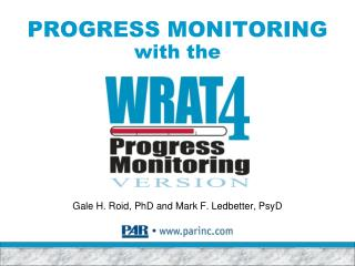 PROGRESS MONITORING with the