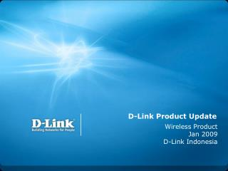 D-Link Product Update