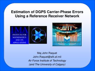 Estimation of DGPS Carrier-Phase Errors Using a Reference Receiver Network