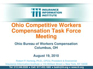 Ohio Competitive Workers Compensation Task Force Meeting