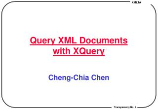Query XML Documents with XQuery