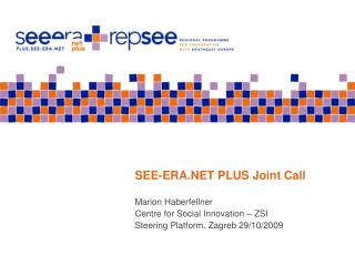SEE-ERA.NET PLUS Joint Call