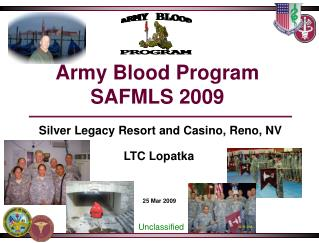 Army Blood Program SAFMLS 2009