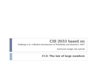 C13: The law of large numbers