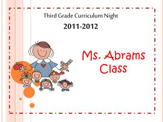 Third Grade Curriculum Night 2011-2012