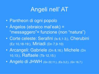 Angeli nell' AT