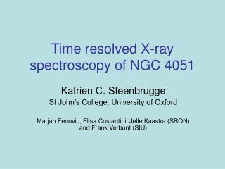 Time resolved X-ray spectroscopy of NGC 4051