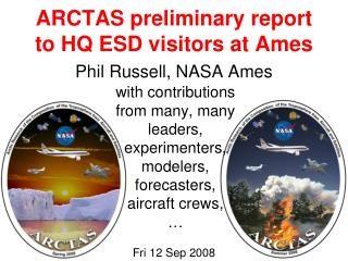 ARCTAS preliminary report to HQ ESD visitors at Ames