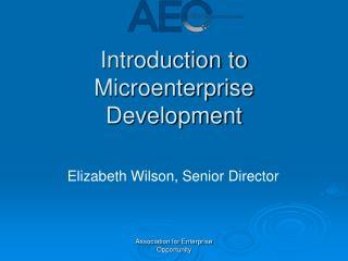Introduction to Microenterprise Development