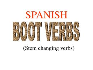 (Stem changing verbs)