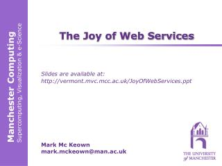 The Joy of Web Services