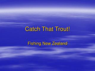 Catch That Trout!