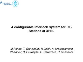A configurable Interlock System for RF-Stations at XFEL